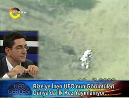 Rize'ye inen UFO görüntüleri